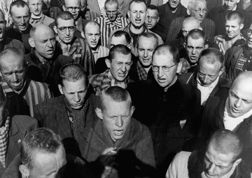Liberated Prisoners, Dachau, Germany, 1945. Lee Miller with David E Scherman @ Lee Miller Archives, England, 2013. All rights reserved,