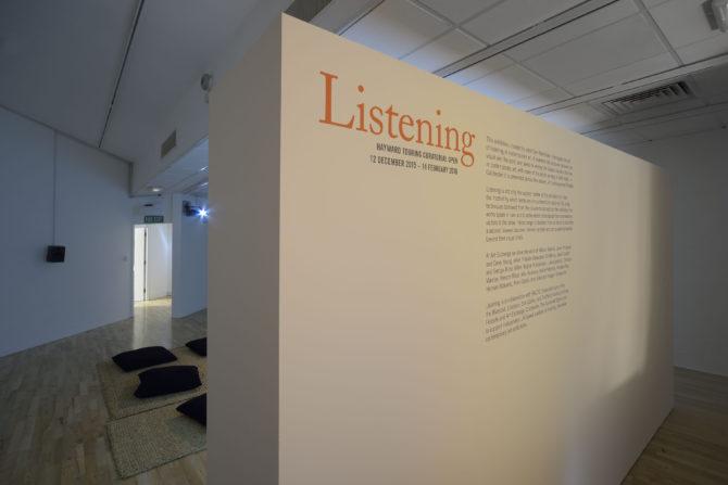 Listening installation 1